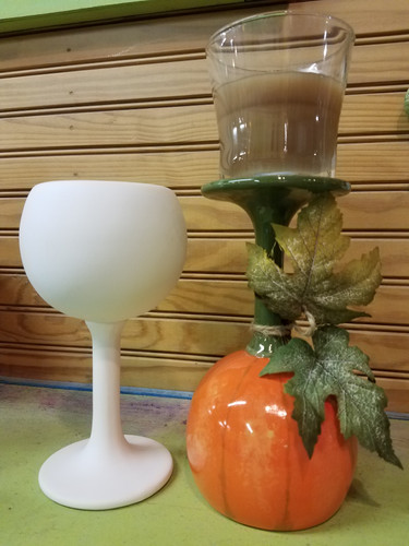 Turn a wine glass into a candle holder!