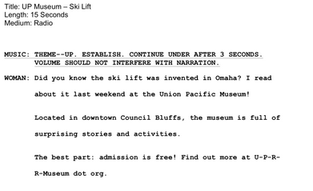 Union Pacific Museum Radio Spot