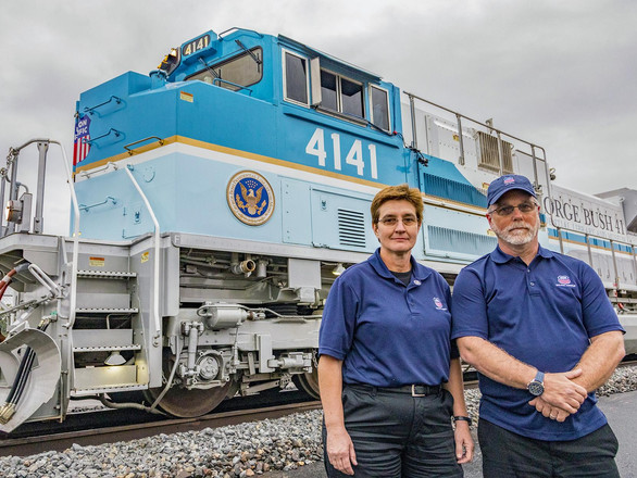 Bush Funeral Train Crew 'Just Taking Care of Another Sailor'