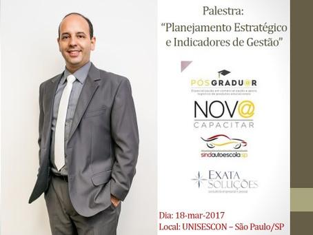 Palestra! Planejamento Estratégico e Indicadores de Gestão