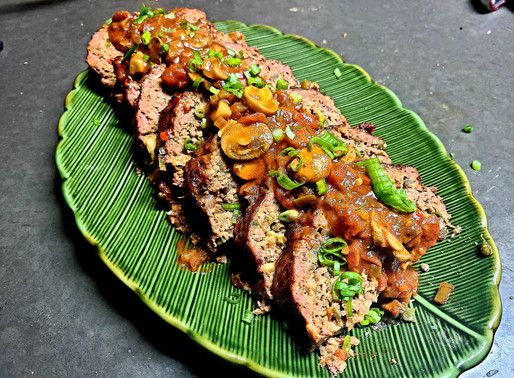 G.O.B.'s Cajun Meat loaf with Creole Red sauce