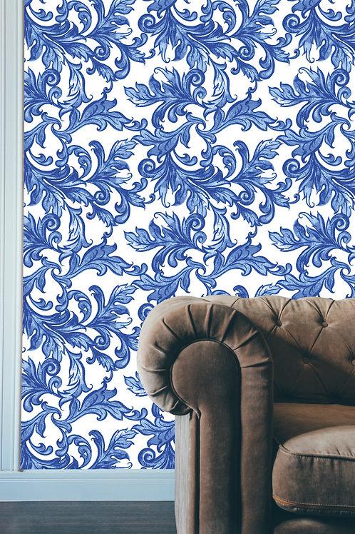 Floral Blue Watercolor
