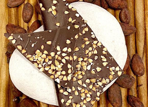 Placa de chocolate Amelonado 70% com trigo serreno 100 gramas