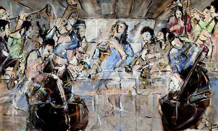 A Ceia de jazz-200x120m-acrilico pastel