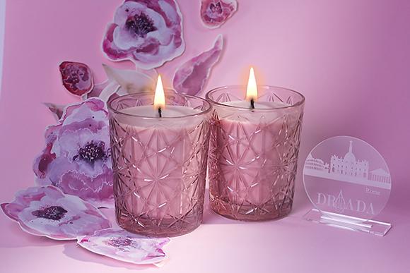 DRIADA vidro lounge rosa + acrílico PARIS