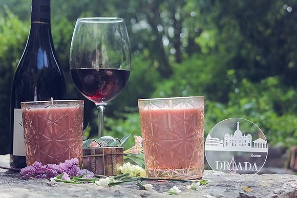 DRIADA vidro lounge rosa + acrílico ROMA