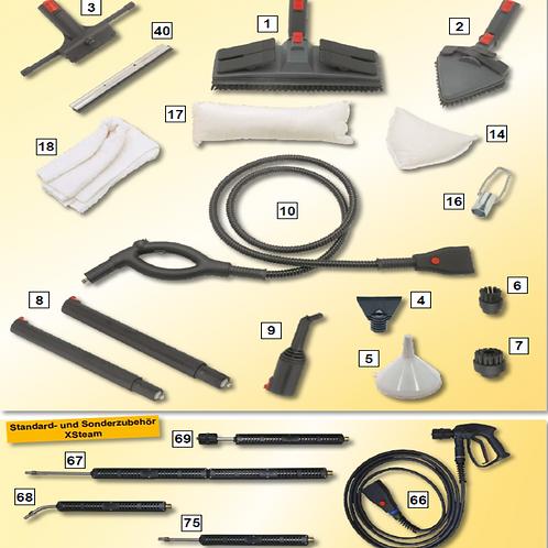 Conjunto completo de acessórios Siel para limpeza a vapor