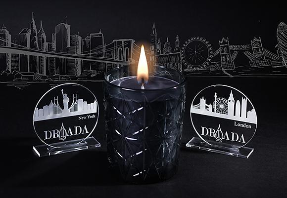 DRIADA Vidro Lounge preto + acrílico LONDRES