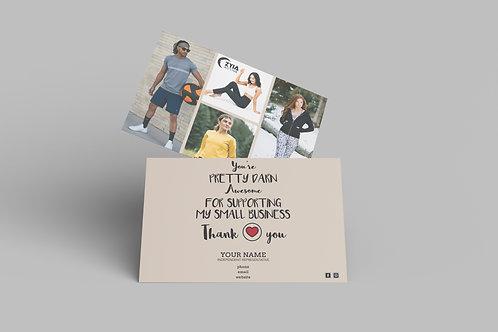 Zyia Active Customer Thank You Card