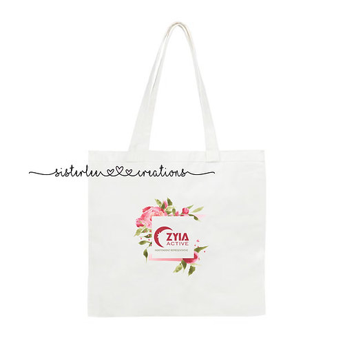 Zyia Active Floral Independent Rep Tote Bag