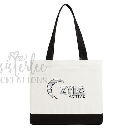 Zyia Active - Striped Logo Tote Bag
