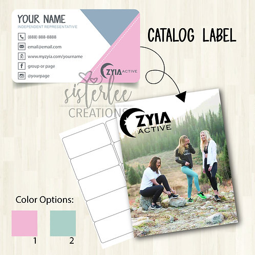 Zyia Active Catalog Label #5
