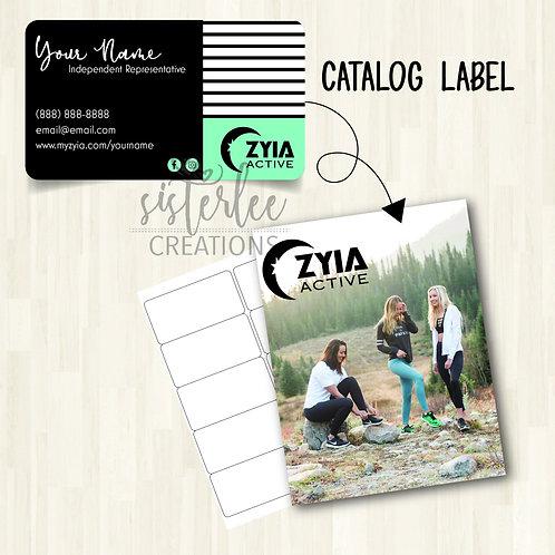 Zyia Active Catalog Label #18