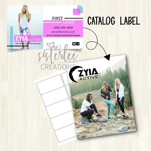Zyia Active Catalog Label #26