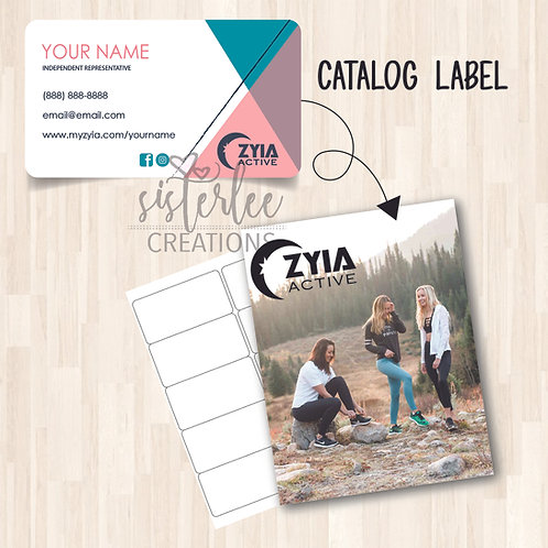 Zyia Active Catalog Label #33