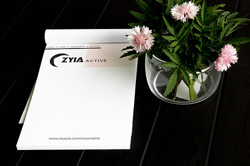 Zyia Active 4 Pillars Notepad