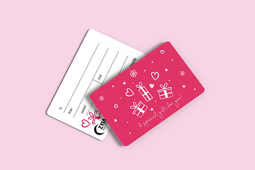Zyia Active Valentine Gift Cards  - 25 Pack
