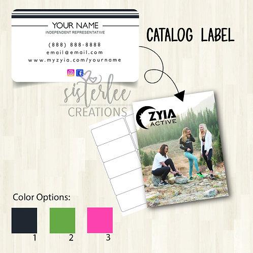 Zyia Active Catalog Label #29