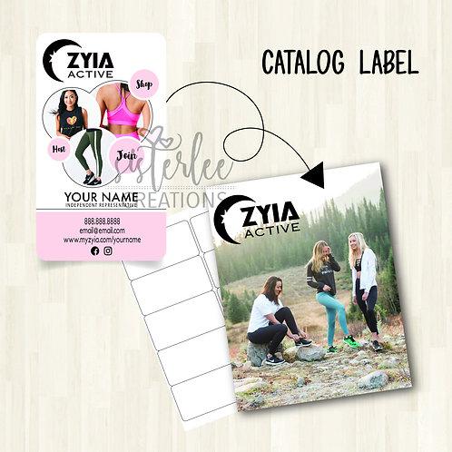 Zyia Active Catalog Label #19
