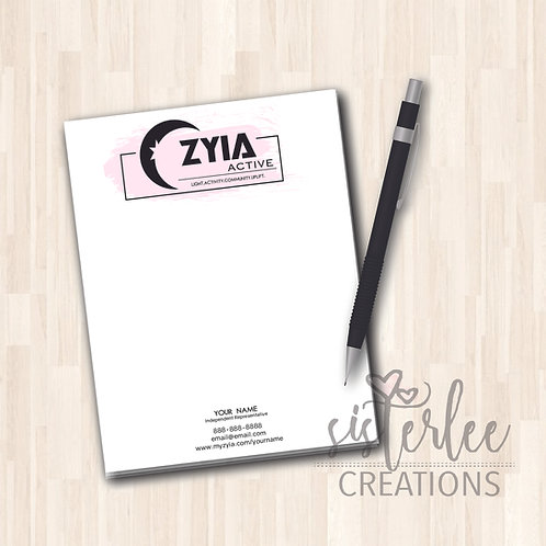 Zyia Active Notepad - Design #38