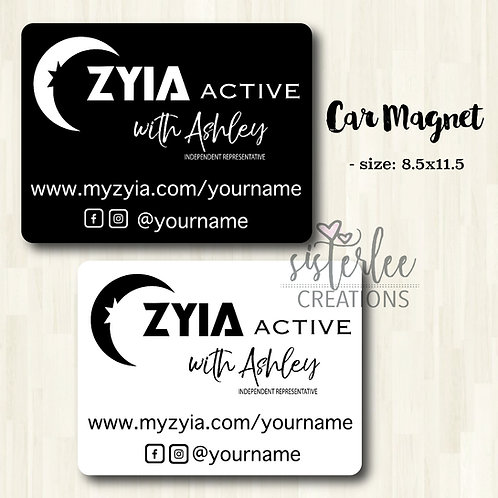 Zyia Active Independent Rep Car Magnet