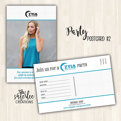 Zyia Party Postcard #2
