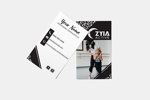 Zyia Business Card - Black + White