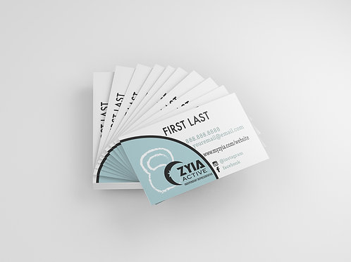 Zyia Business Card - Kettlebell