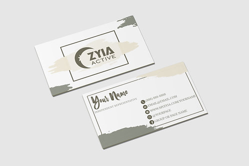 Zyia Business Card -  Olive+Cream