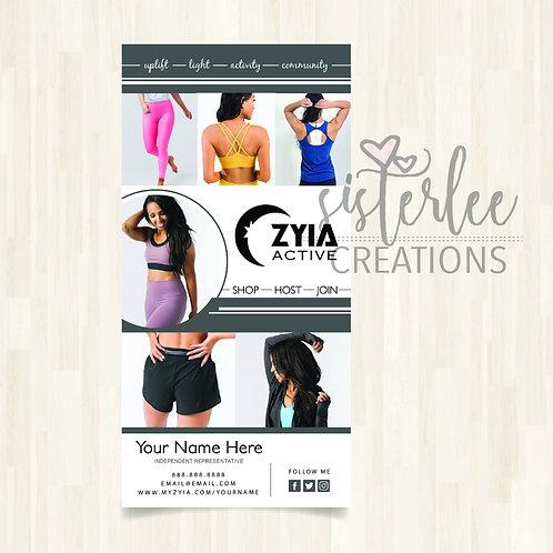 Zyia Active Representative Rack Card