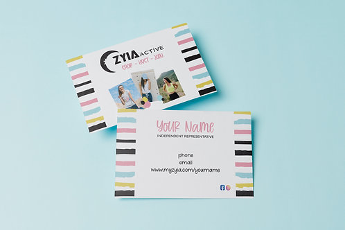 Zyia Business Card - Bright Stripes