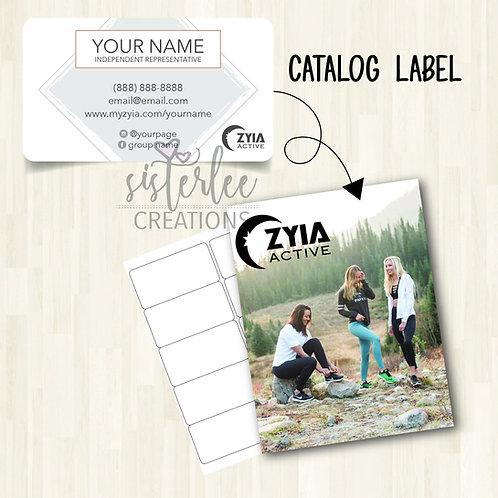 Zyia Active Catalog Label #16