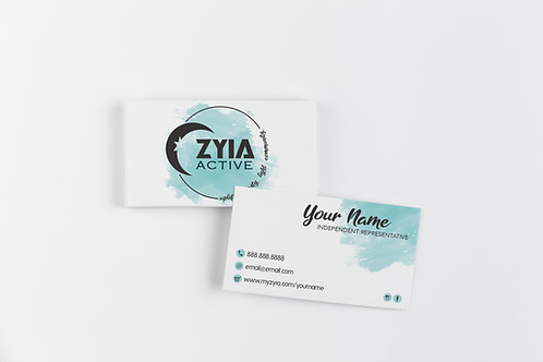 Zyia Business Card - Blue Watercolor