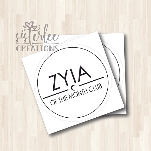 Zyia of the Month Stickers (5 Pack)