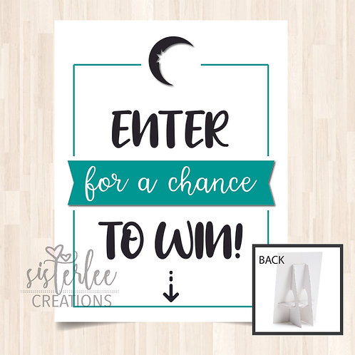 Zyia Active Enter to Win Tabletop Sign