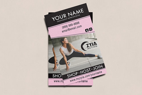 Zyia Business Card - Pink+Black