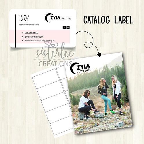Zyia Active Catalog Label #21