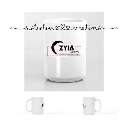 Zyia Active 4 Pillars Mug (White/Pink)