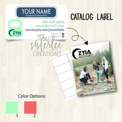 Zyia Active Catalog Label #4
