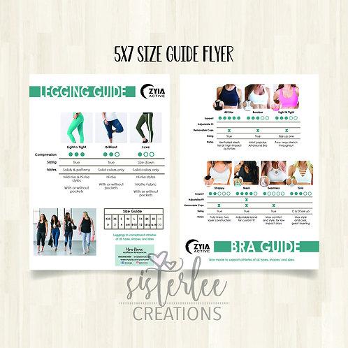 Zyia Legging & Bra Guide Flyer