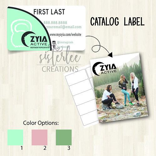 Zyia Active Catalog Label #1