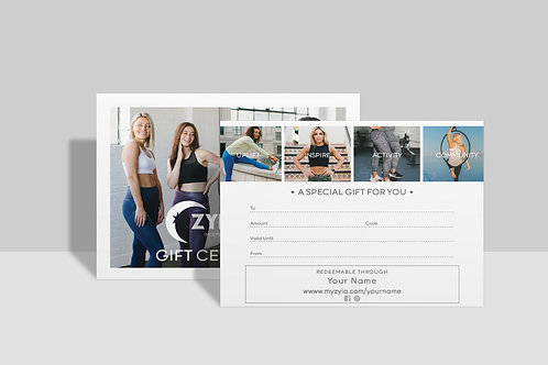 Zyia Active Gift Certificates