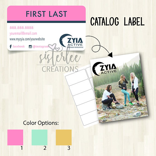 Zyia Active Catalog Label #2