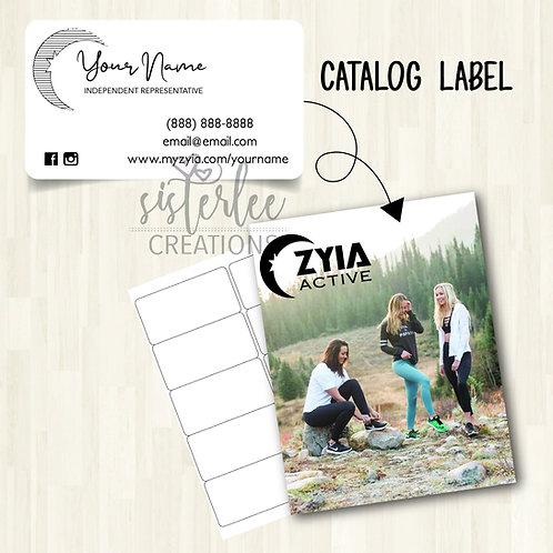 Zyia Active Catalog Label #10