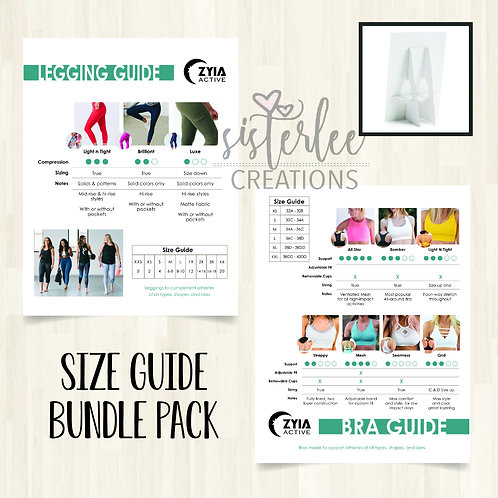 Zyia Size Guide Tabletop Signs Bundle Pack