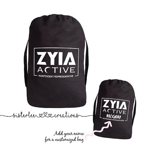 Zyia Active Independent Rep Drawstring Bag