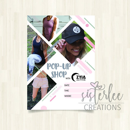 Zyia Active Pop-Up Shop Flyer