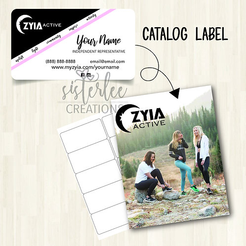Zyia Active Catalog Label #13