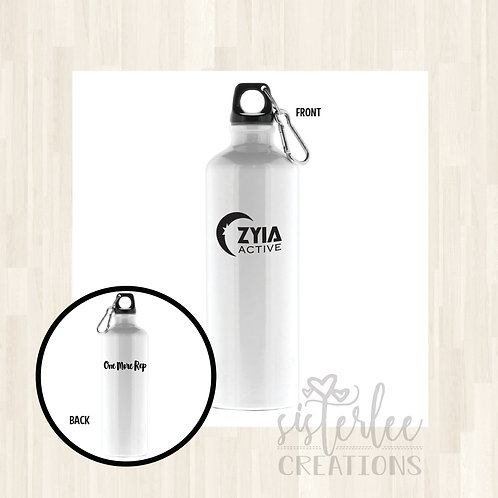 Zyia Active Waterbottle - White w/ One More Rep