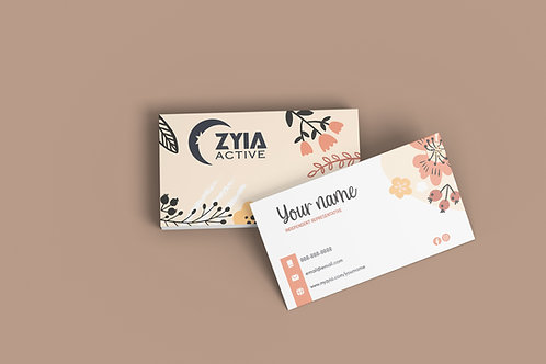 Zyia Business Card - Floral
